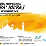 Selamat Memperingati Isra' Mi'raj Nabi Muhammad SAW